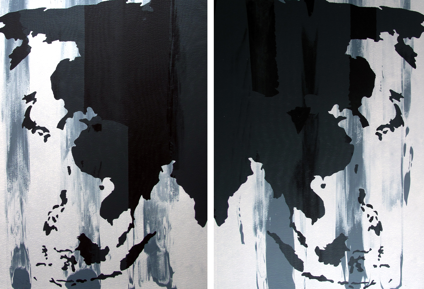 Yes, I am left, I am right (diptych)